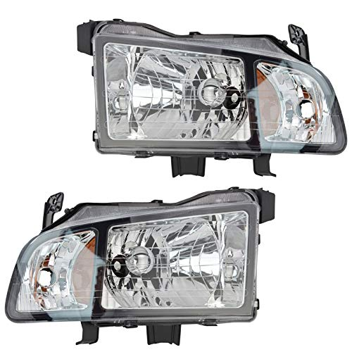Headlights Headlamps Left & Right Pair Set for 06-08 Honda Ridgeline Pickup