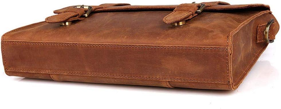 HANXIAODONG Mens Laptop Messenger Bag Shoulder Bag Mens Vintage Tote Shoulder Messenger Bags Large Capacity Bags for Business Casual