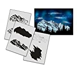 UMR-Design AS-163 Ski Mountain Airbrushstencil Step by Step Size M
