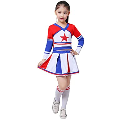 4d487900aa3 Amazon.com: Girls' High School Perform Fancy Dress Cheerleader Long ...