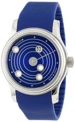 Men's 'B-47 Mysterious Planets' Swiss Automatic Stainless Steel and Silicone Diving Watch, Color:Blue (Model: ) - Fortis 677.20.35 SI.05