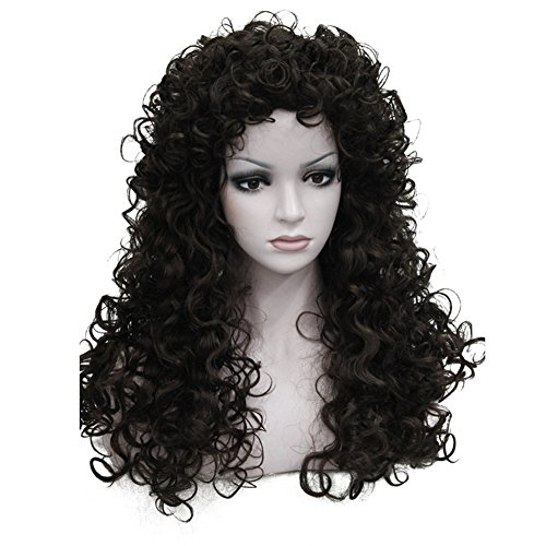 Aimole Synthetic Heat Resistant Hair Long Curly Wigs Cosplay Women Wig(6-Brown)