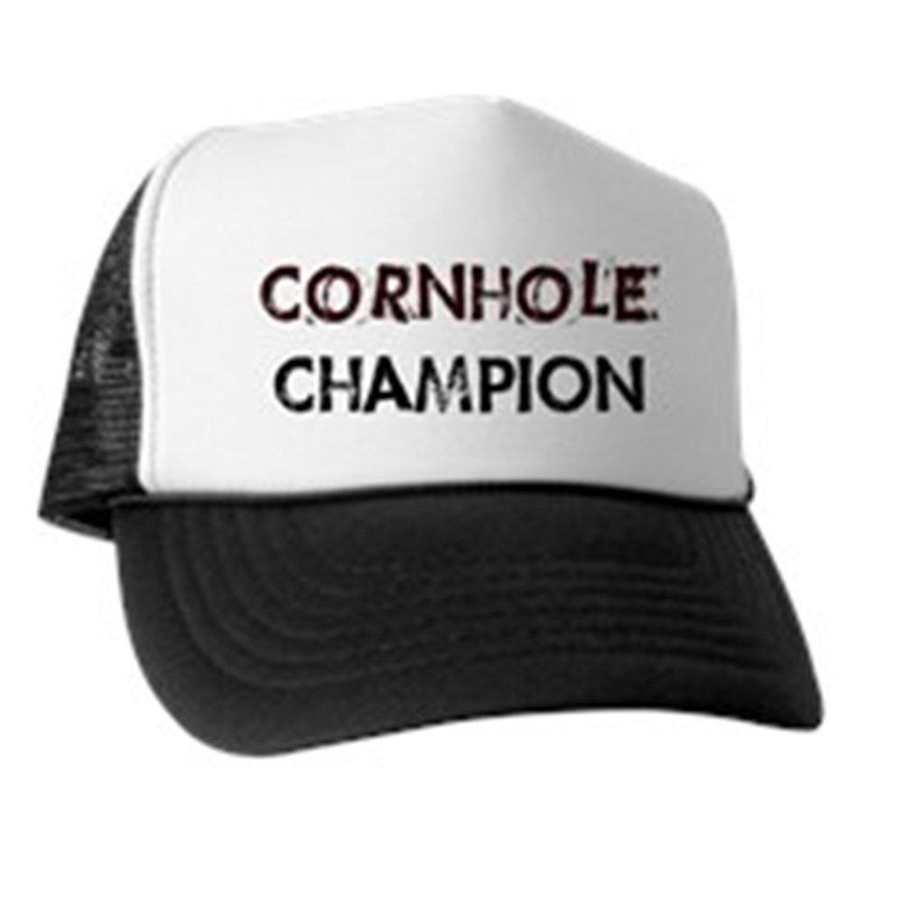 Amazon.com  CafePress - Cornhole Champion - Trucker Hat a2e77fc6e00