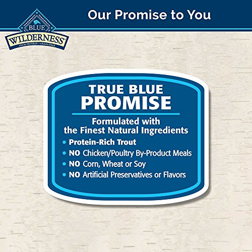 Blue Buffalo Wilderness Snake River Grill High Protein Grain Free, Natural Dry Dog Food Trout, Venison & Rabbit 22-lb