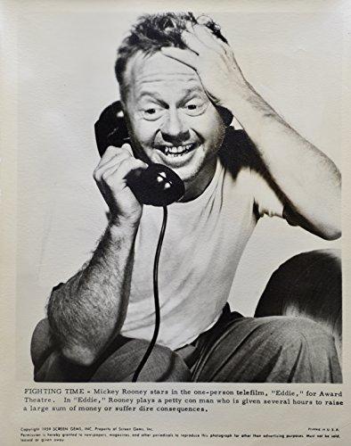 1959 - Mickey Rooney #2 - Vintage 8x10 Photograph - Eddie - Alcoa Theatre