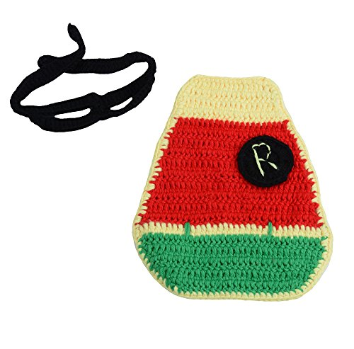 CX-Queen Baby Photography Prop Crochet Newborn Robin Cape and Eyemask Set (Robin Outfit For Babies)