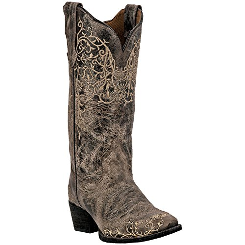 Laredo Womens Taupe Jasmine Leather Cowboy Boots 12in Vine 6.5 M ()