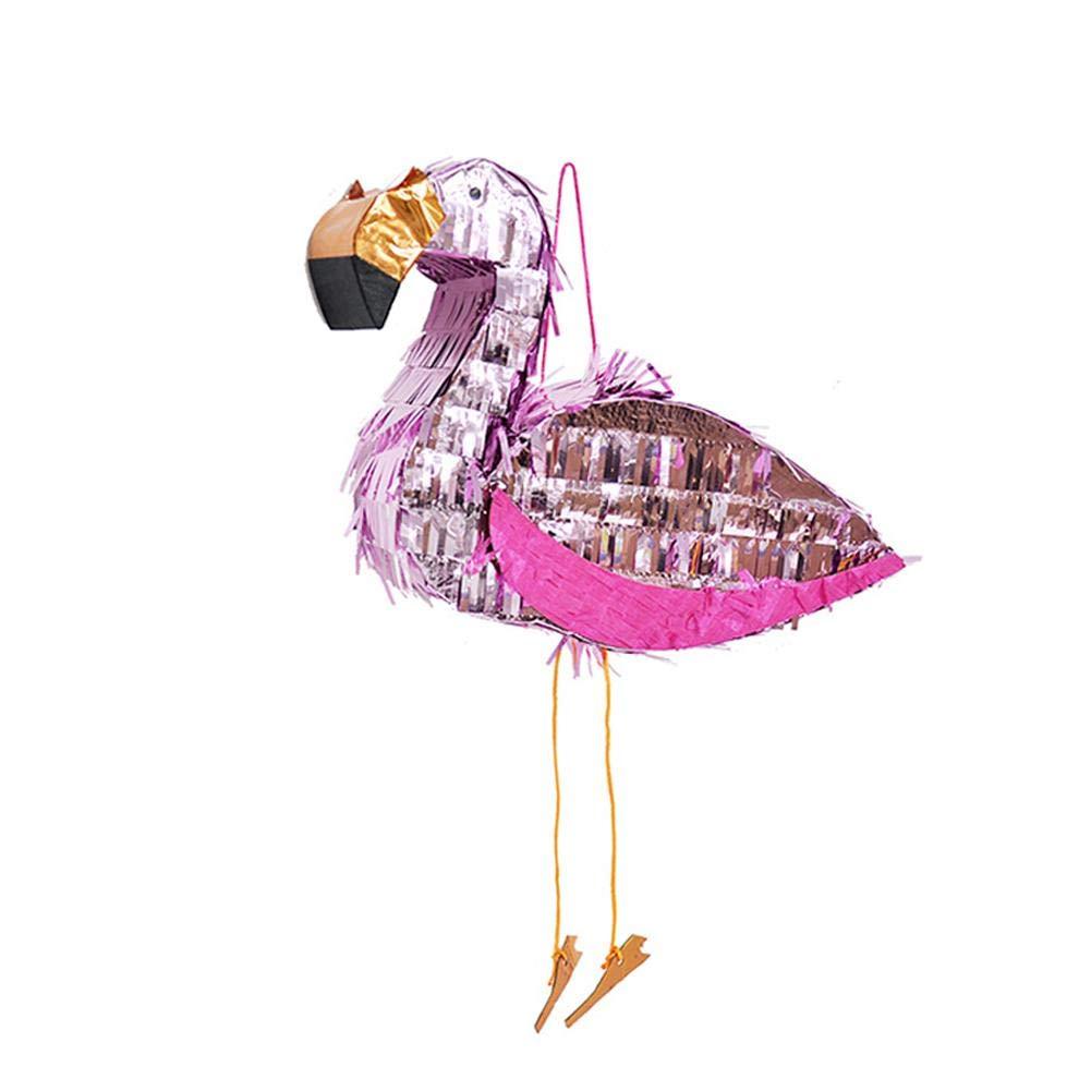 Zezego Articles de fête, Flamingo Pinata Birthday Party Supplies Feuille Pinata Props Environ 30x40x10cm
