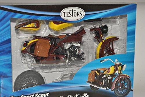 Indian Sport Scout Kit Bausatz 1/12 Testors Modell Motorrad mit individiuellem Wunschkennzeichen