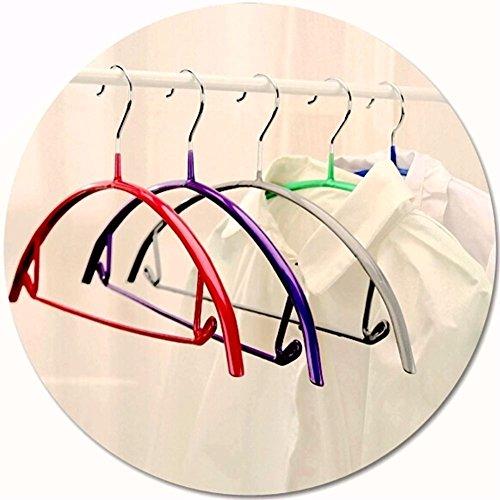 VANORIG Deluxe Hanger Clothes Hanger Durable High Manganese Steel Hangers PVC Resin Coating Clothing Hanger,Pack of 5 (Assorted Color)