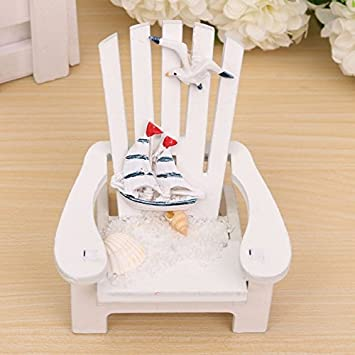 Buy 1pc Wood Decoration Mediterranean Style Wooden Mini Beach Chair Nautical Decor Home Decor Prop Wedding Decoration Wholesale Online At Low Prices In India Amazon In