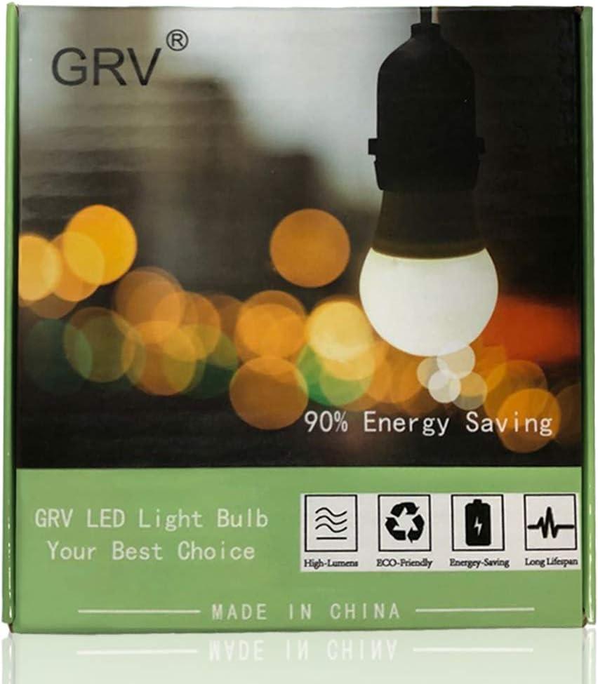GRV Ba15d LED Light Bulb 1076 1142 High Bright Car Bulbs 102-2835 SMD 3W DC12V Warm White Pack of 2