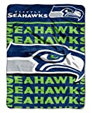 The Northwest Company Officially Licensed NFL Seattle Seahawks Livin Large Micro Raschel Throw Blanket, 46″ x 60″