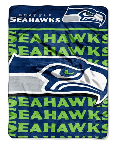 The Northwest Company Officially Licensed NFL Seattle Seahawks Livin Large Micro Raschel Throw Blanket, 46