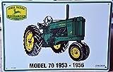 John Deere Tractor Model 70 1953-1956 Metal Parking Sign #PS30044