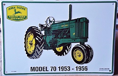 John Deere Tractor Model 70 1953-1956 Metal Parking Sign ...
