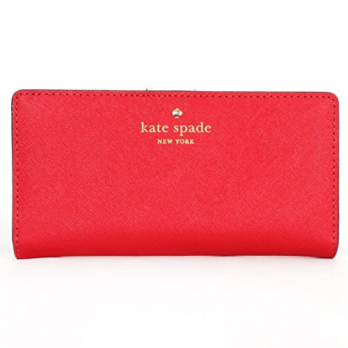 Kate Spade Leather Mikas Pond Stacy Wallet Red