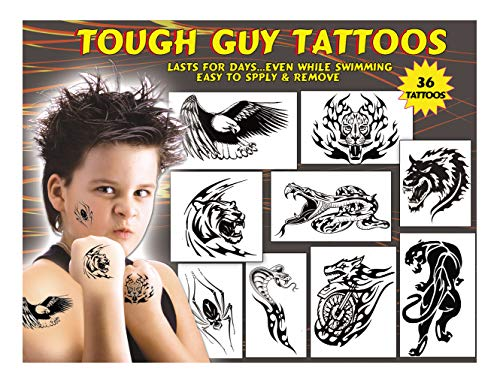 Kid's Temporary Tattoos - Tough Guy Tattoos