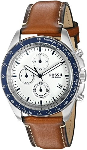 Fossil Men's CH3029 Sport 54 Chronograph Brown Leather Watch