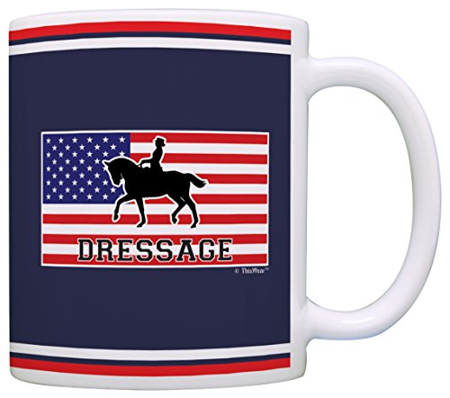 Equestrian Accessories American Pride Dressage Horseback Gift Coffee Mug Tea Cup Flag (Dressage Top Hat)