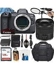 Canon EOS R6 Mirrorless Digital Camera 20MP Full-Frame CMOS Sensor with RF 24-105 mm f/4-7.1 STM Lens + A-Cell Accessory Bundle + SanDisk 128GB Memory Card + Tripod