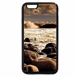 iPhone 6S / iPhone 6 Case (Black) lovely rocky beach
