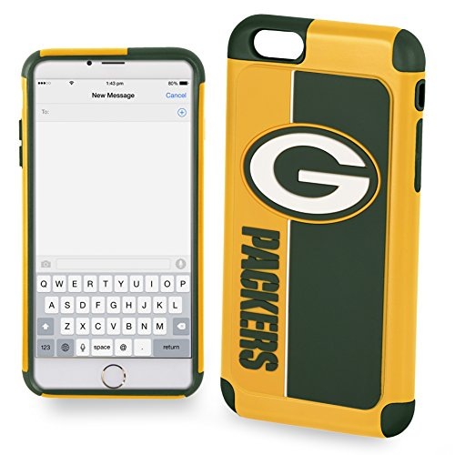 Forever Collectibles IPHNNFEXTPU6LGP Dual Hybrid Bold Series Case for iPhone 6 Plus/6S Plus,NFL Green Bay (Green Bay Packers Telephone)