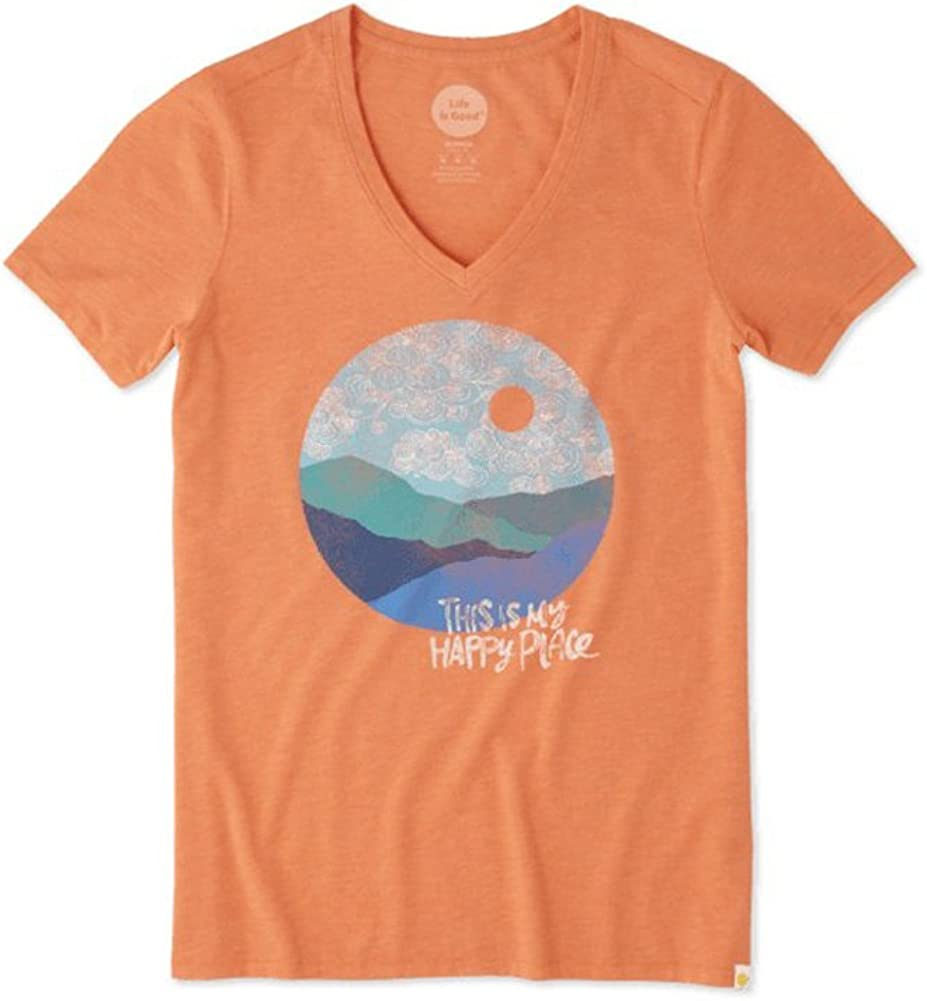 Life is Good Womens Happy Place Cool Vee Tee