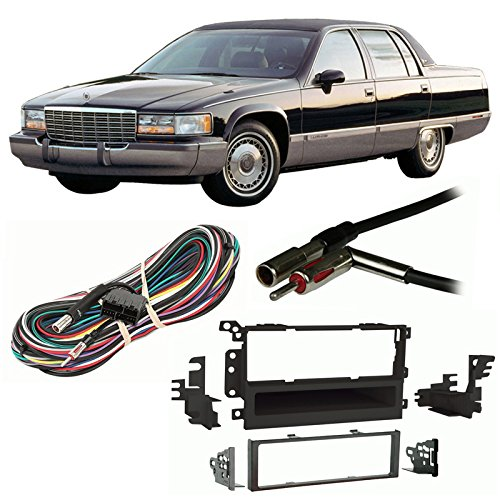 Fits Cadillac Fleetwood 1993-1996 Single DIN Harness Radio Install Dash Kit