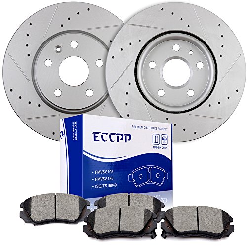 (Brake Kits ECCPP Front 321mm Discs Brake Rotors and Ceramic Brake Pads for 10 Buick Allure,10-15 Buick LaCrosse,11-14 Buick Regal,10-16 Chevrolet Equinox,13-15 Chevrolet Malibu,10-14 GMC Terrain)