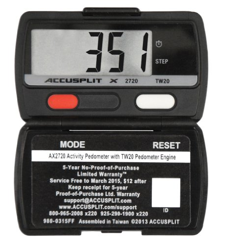 Accusplit AX2720 Accelerometer Pedometer-Steps & Activity Timer