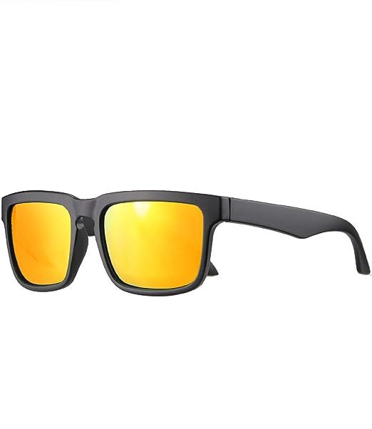 caripe Retro Vintage Damen Herren Sport Sonnenbrille verspiegelt - relol (3006 - schwarz gummiert - sun verspiegelt) bzatfmeqh
