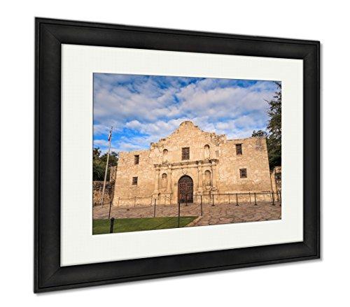 Ashley Framed Prints Historic Alamo At Twilight, Wall Art Home Decoration, Color, 34x40 (frame size), Black Frame, AG6517420 by Ashley Framed Prints