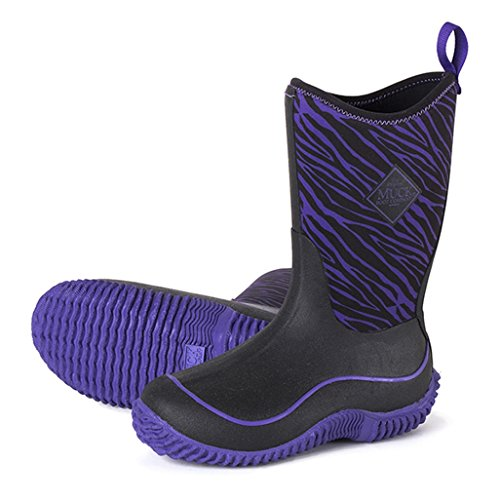 - Muck Hale Prints Children Girls Purple Zebra Outdoor Sport Boots Waterproof 7 M US Toddler
