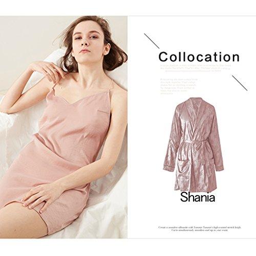 Business Pigiama Chi Divertente Cheng Maniche M Camicia Sexy Electronic Lotus Una Ragazza Color Black color Notte Senza Da Size Spalline Fang xnwtqrn