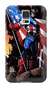 Beauty design tpu hard back shell case cover for Samsung Galaxy s5 of Avengers Captain America in Fashion E-Mall