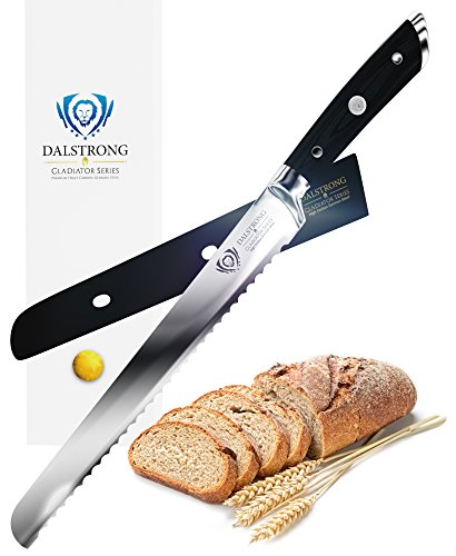 "DALSTRONG Bread Knife - Gladiator Series - German HC Steel - 10"" (254 mm)"
