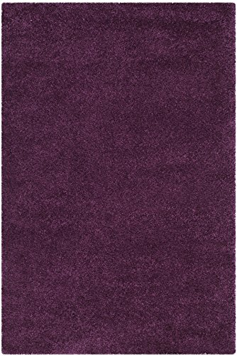 Safavieh Santa Monica Shag Collection SGN725-7373 Purple Plush Area Rug (3' x 5')