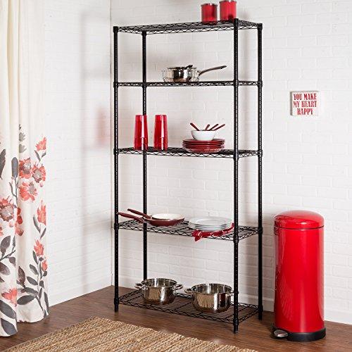 Honey-Can-Do SHF-01442 Storage Shelving, 5-Tier, Black