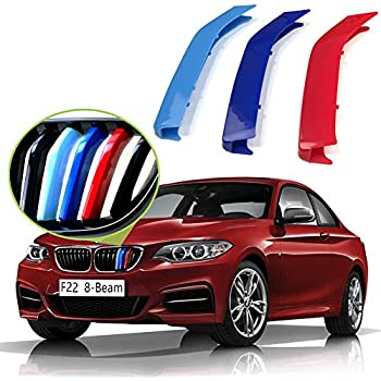 16-17 8 Beams M-Color ABS Grill Stripe Inserts Kidney Grilles for F48 X1 SUV