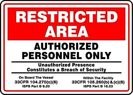 Security Sign, 10 x 14In, BK and R/WHT, AL: Amazon com