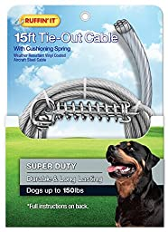 Ruffin\' It 15-Feet 4200-Pound Super Tie Out with Cushioning Spring