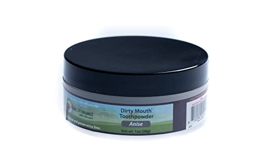 Dirty Mouth Organic Toothpowder Anise (1 oz jar 3mo Supply) Healthiest Toothpaste