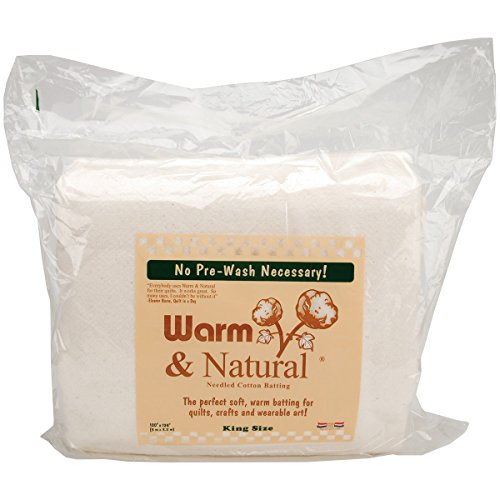 (Warm Company Batting 120-Inch by 124-Inch Warm and Natural Cotton Batting, King)