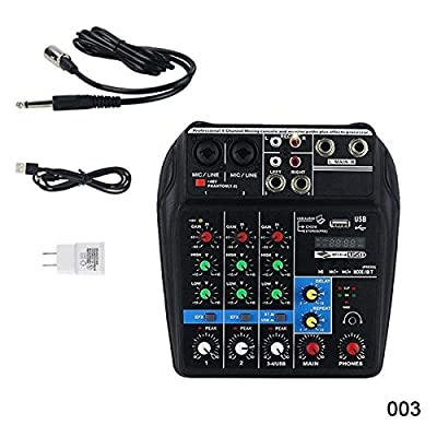 ZREAL Mini USB Audio Mixer Amplifier Amp Bluetooth Board 48V Phantom Power 4 Channels for DJ Karaoke