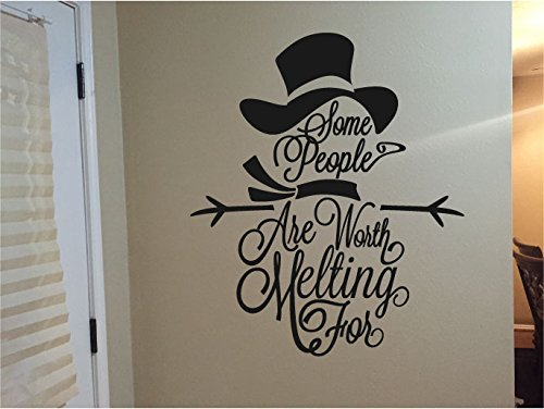 - Snowman Silhouette Some People are Worth Melting For Vinyl Wall Words Decal Sticker Graphic