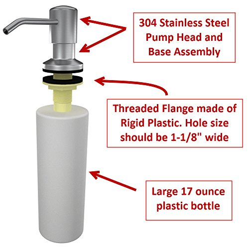 Ultimate Kitchen™ - Stainless Steel Sink Soap Dispenser (Satin ...