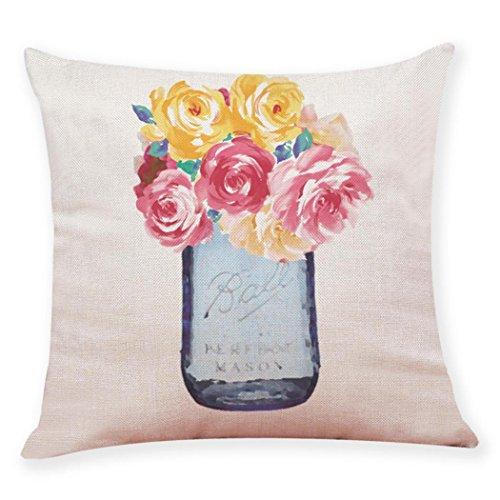 Iuhan Throw Pillow Case Cushion Cover, Fashion Home Decor Cushion Cover Flower Vase Throw Pillowcase Pillow Covers 18