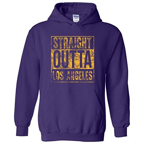 - Straight Outta Los Angeles - California Basketball Hometown Pride Hoodie - X-Large - Purple