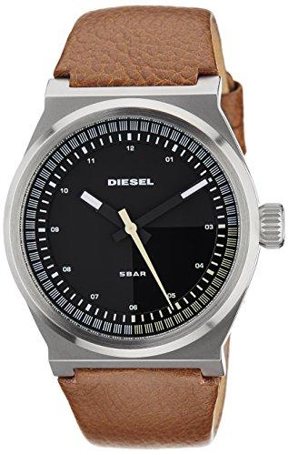 Diesel Black Dial Brown Leather Mens Watch (Diesel Mens Brown Dial)